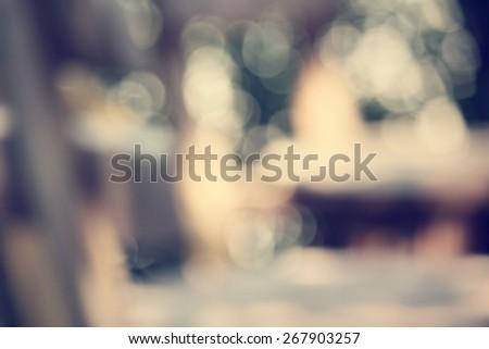 Blurred of restaurant - stock photo