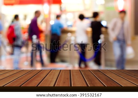 Blurred of shopping Mall : Counter service - stock photo