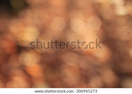 blurred orange autumn background - stock photo