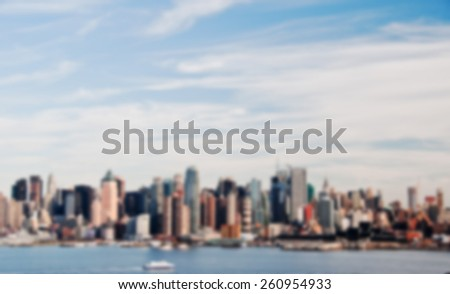 Blurred out of focus background from New York City - stock photo