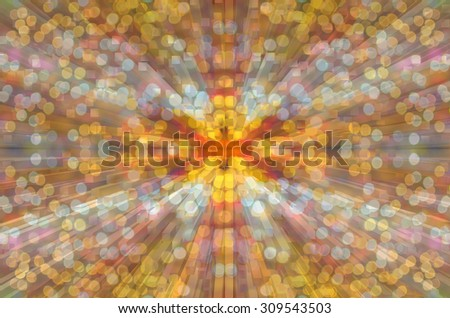 Blurred Photo bokeh of colorful with rectangular, square and cubic - stock photo