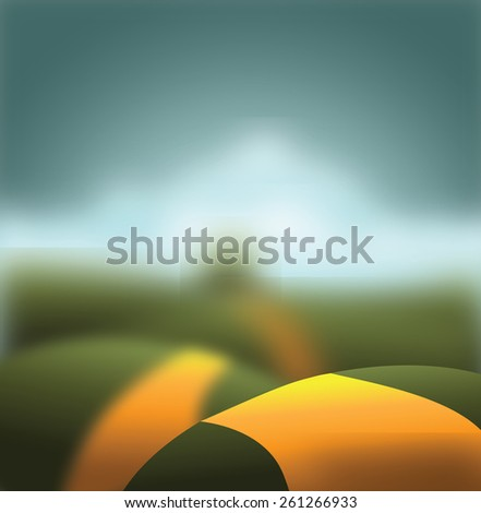 Blurred road and horizon background with copy space royalty free stock illustration for ad, promotion, poster, flier, blog, article, social media, marketing, brochure, design, web page, wallpaper - stock photo