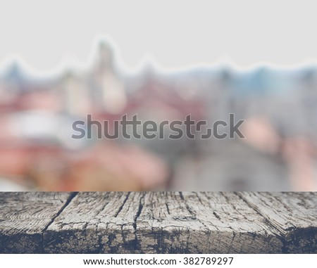 Blurred Rooftops in Prague, Czech Republic - stock photo