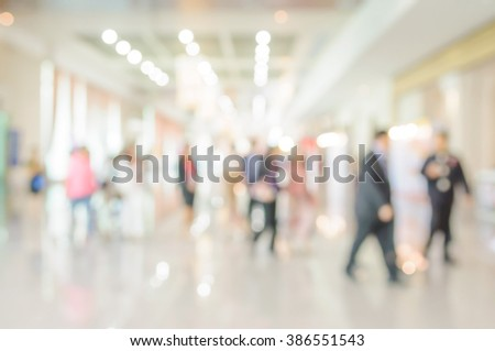 Blurred shopping mall and peple background. - stock photo