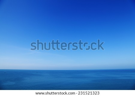 Blurred sky and sea in the daytime. - stock photo
