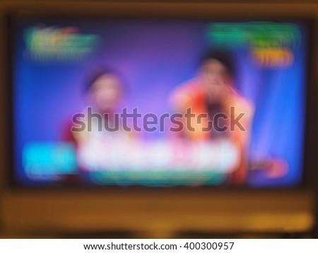 Blurred Television. - stock photo