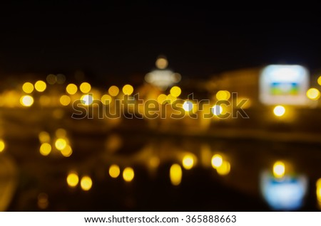 Blurred views of the Vatican and Ponte Vittorio Emanuele , Roma, Italy - stock photo