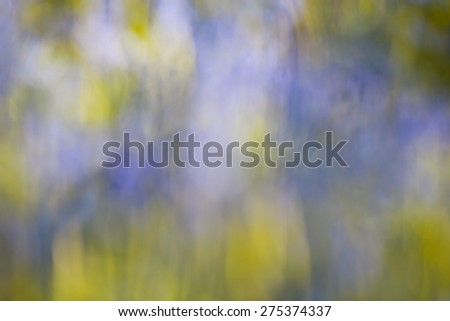 Blurred Yellow, Blue and Green Abstract Background  - stock photo