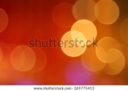 Blurry abstract background with bokeh defocused lights - stock photo