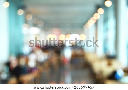 Blurry image of a cafe interrior - stock photo