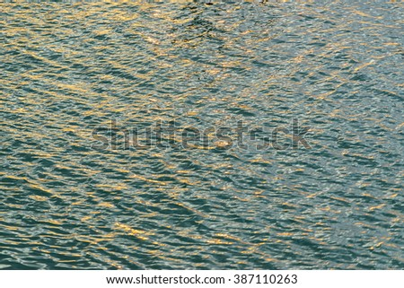 Blurry image of water texture and waves in ocean waves:Close up,select focus with shallow depth of field:ideal use for background. - stock photo