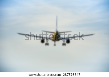 Blurry plane background. - stock photo