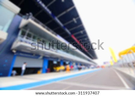 blurry racing circuit for background - stock photo