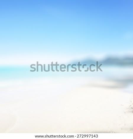 Blurry tropical beach. - stock photo