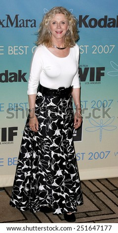 Blythe Danner attends Women In Film Presents The 2007 Crystal and Lucy Awards held at the Beverly Hilton Hotel in Beverly Hills, California, California, on June 14, 2006.  - stock photo