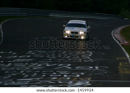 BMW number 179 race car at night - stock photo