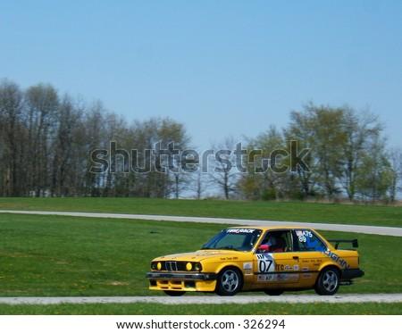 BMW race car - stock photo