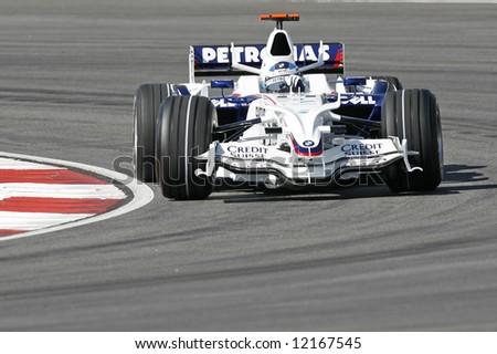 BMW Sauber's Germany F1 driver Nick Heidfeld - stock photo