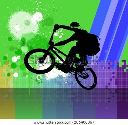 BMX rider - stock photo