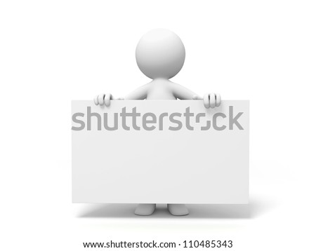 Board/a people is holding a board - stock photo