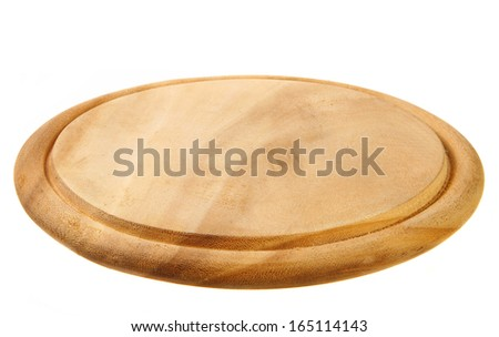 board for bread and pizza  - stock photo