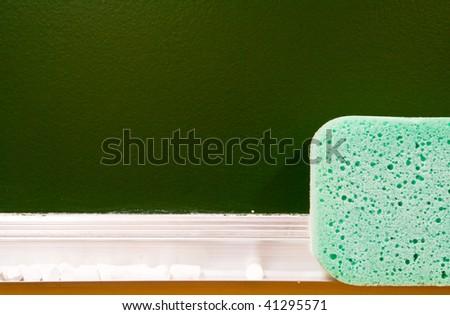 board for inscriptions - stock photo