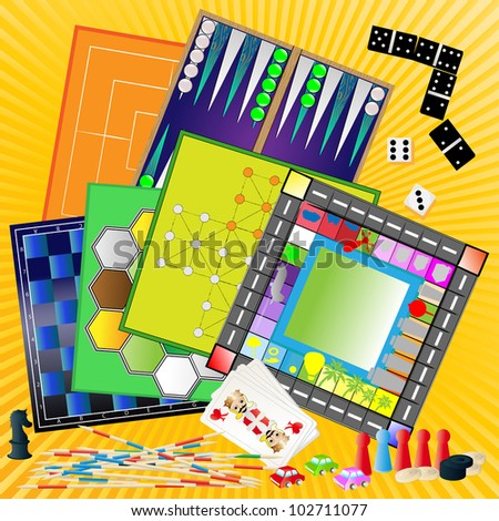 board games, a set - stock photo