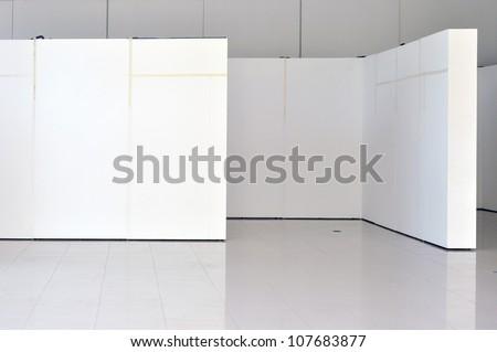 board in gallery - stock photo