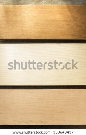 board on wooden background texture - stock photo