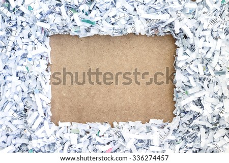 board paper recycle document shredding environmental conservation - stock photo