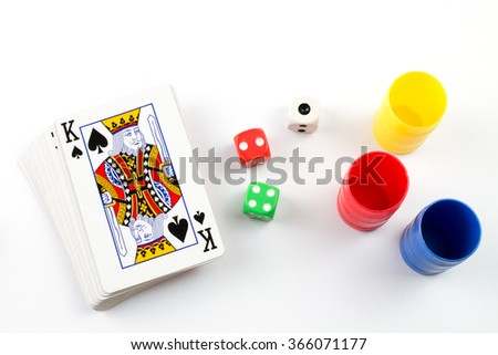 Boarding Games Play Figures. - stock photo
