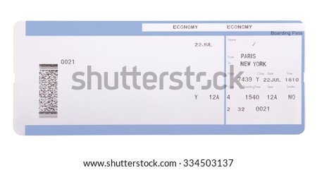 Boarding pass isolated on white background - stock photo