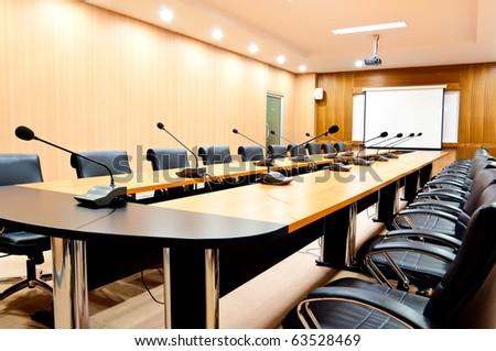 boardroom interior - stock photo