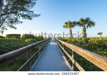 Boardwalk to the Beach - stock photo