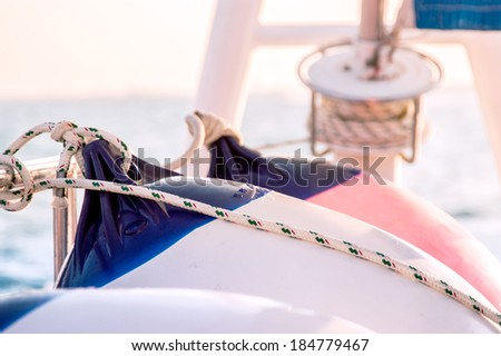 boat details - stock photo