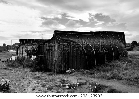 Boat Huts - stock photo