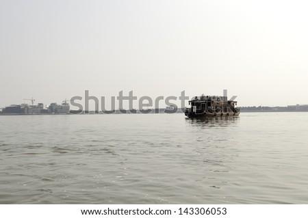 boat in china - stock photo