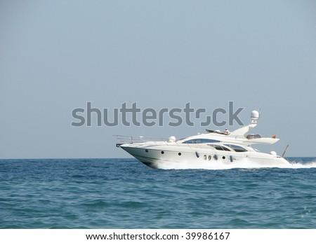 Boat in the sea - stock photo