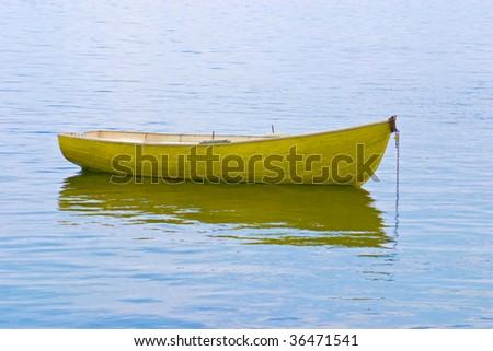 Boat in water - stock photo