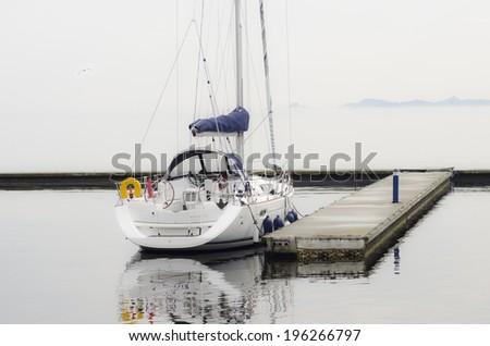 Boat moored - stock photo