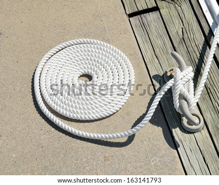 Boat Mooring at Marina Florida, USA. - stock photo