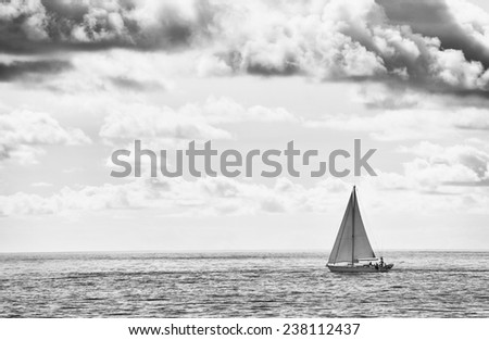 Boat on the sea - stock photo