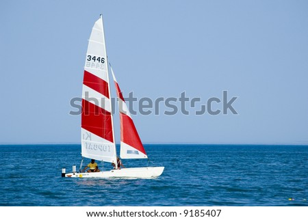 boat on the see - stock photo
