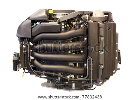 boat turbo engine isolated - stock photo