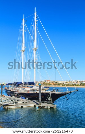 Boats in a port of Portimao, Portugal - stock photo