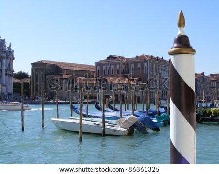 Boats in Venice, Italy - stock photo
