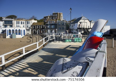Boats of Broadstairs - stock photo