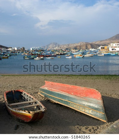 boats out of water - stock photo