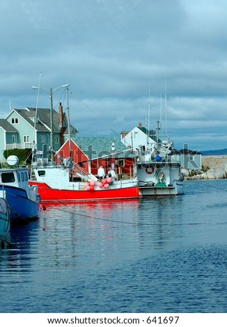 Boats Peggy's Cove,Nova Scotia,Canada - stock photo