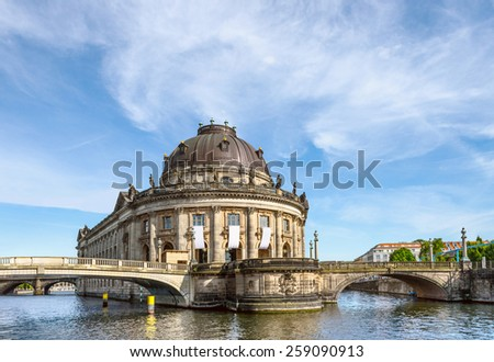 Bode Museum in Berlin, Germany, on a bright day  - stock photo